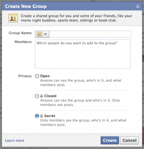 Create-facebook-group