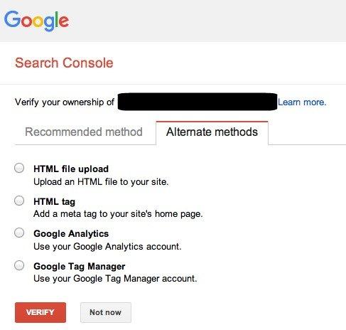 Verify site alternate methods