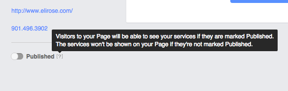 Publish Facebook Services Tab
