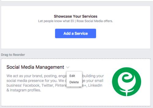 Edit Facebook Services