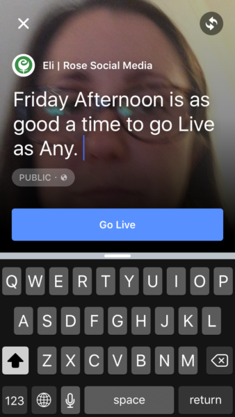 Title your Facebook Live video