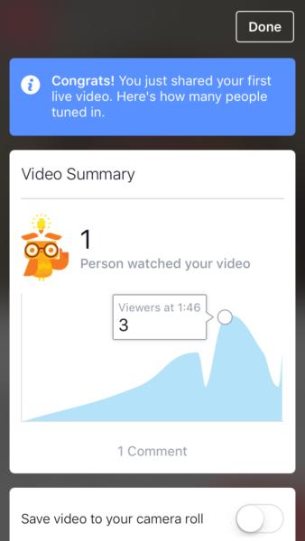 Facebook Live video summary