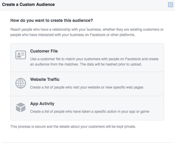 Create Facebook Custom Audience with Customer Email List
