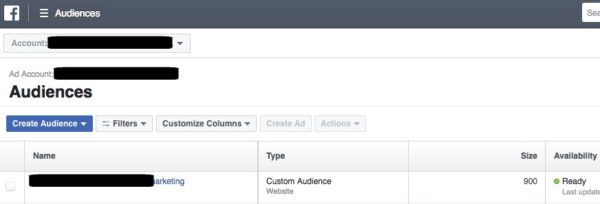 Check Facebook Custom Audience size