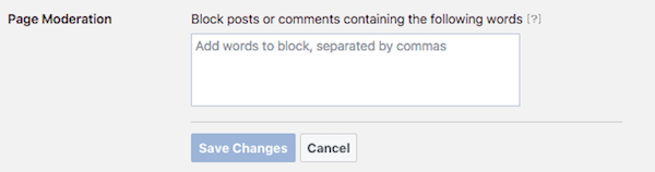Facebook Page Moderation