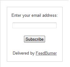 Feedburner-Email-Subscription-Box