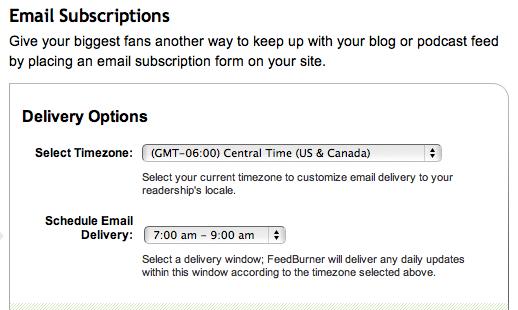 Feedburner, Email