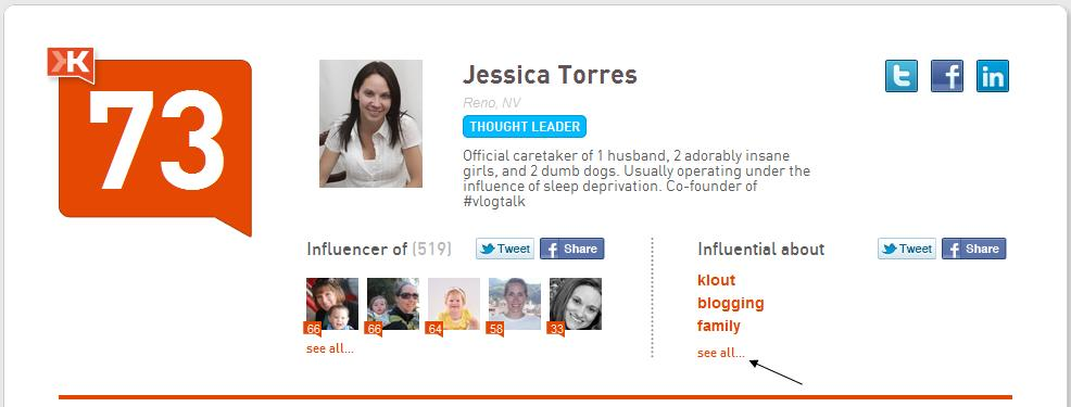 According to Klout, I'm Influential About…