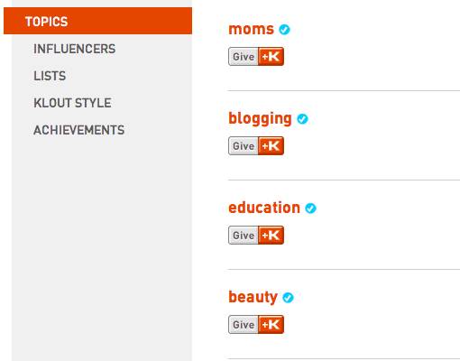 Klout Features: +K and Analytics