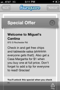 FourSquare-offer