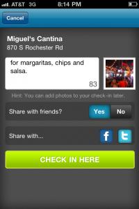 FourSquare-private-check-in