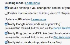 google-xml-sitemap-plugin-settings