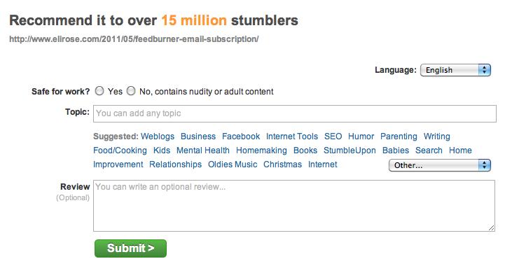 StumbleUpon: Adding & Editing an Article Review