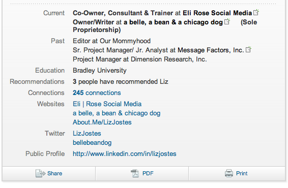 LinkedIn-Current-Past-Experience