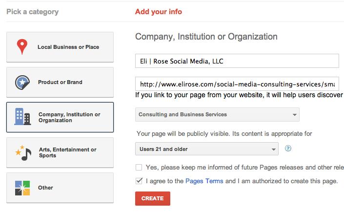 Building-Google-Plus-Business-Page