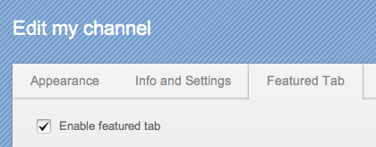 YouTube-Featured-Tab-Option