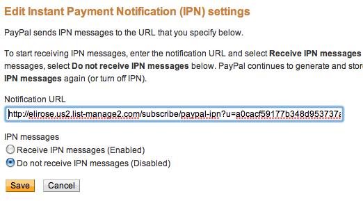 PayPal-MailChimp-URL-integration