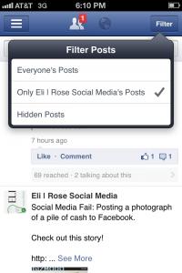 Facebook-Manager-Filter-Posts