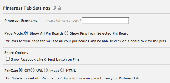 how to add pinterest tab to facebook page