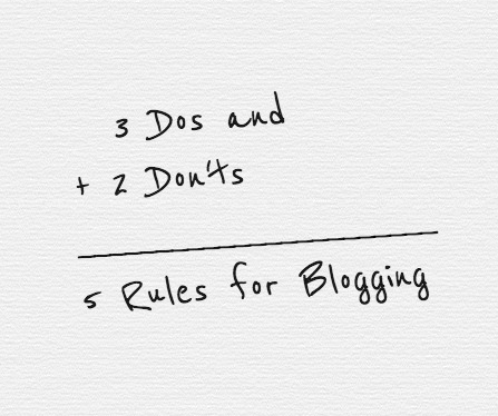 rules-for-blogging