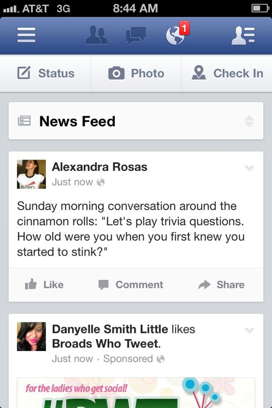 Facebook Fan Page Mobile App Updates To Facebook App