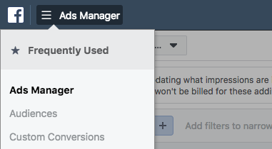 Navigate to Audience in Facebook Ads Manager