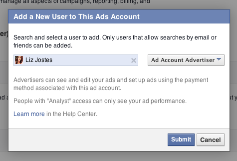 how to create a new facebook ad account