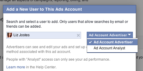 how to add admin in facebook page 2014