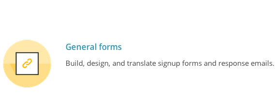 MailChimp General Forms