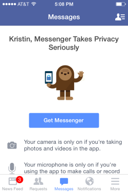Facebook Messenger App doesn't offer any improved functionality