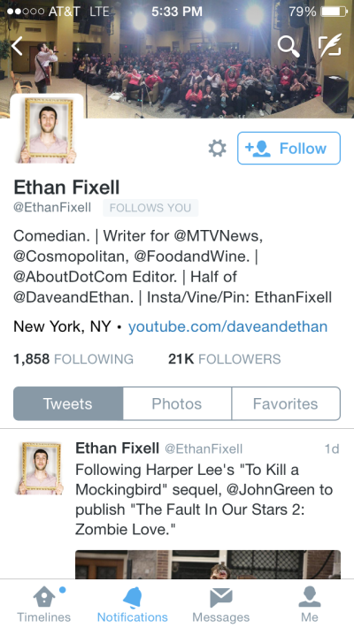 Twitter account I Won't Follow