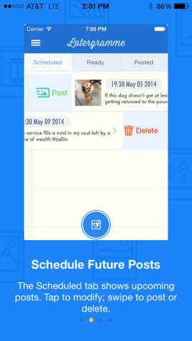 Schedule future Instagram posts with Latergramme