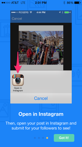 Open Latergramme photo in Instagram