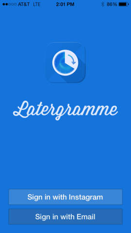Sign into Latergramme app