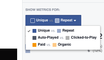 Toggle Facebook Video stat view