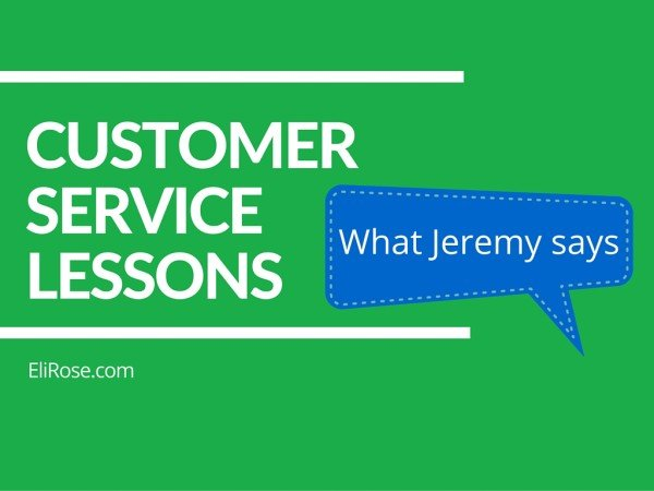 Customer Service: Lessons from Jeremy