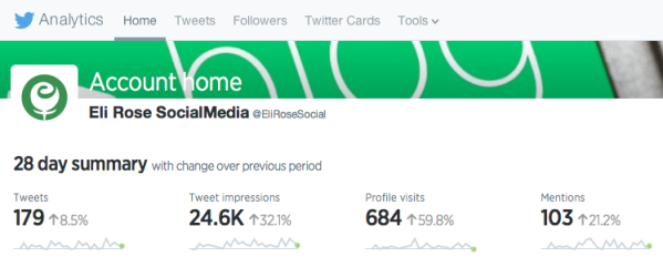 Twitter Analytics Home Tab