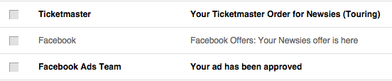 Facebook emails you Offer