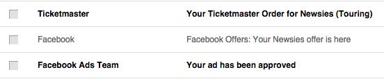 Facebook emails you Offer