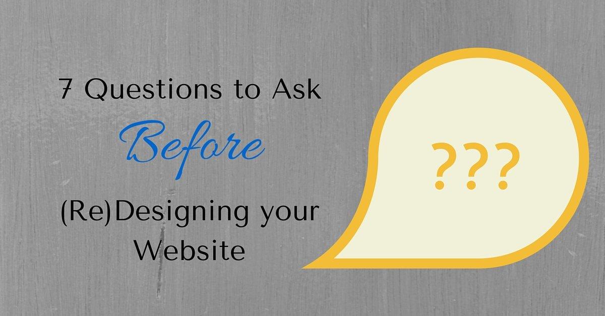 Questions Ask Website Designers