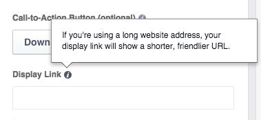 Edit Display Website Link Facebook Ads Manager