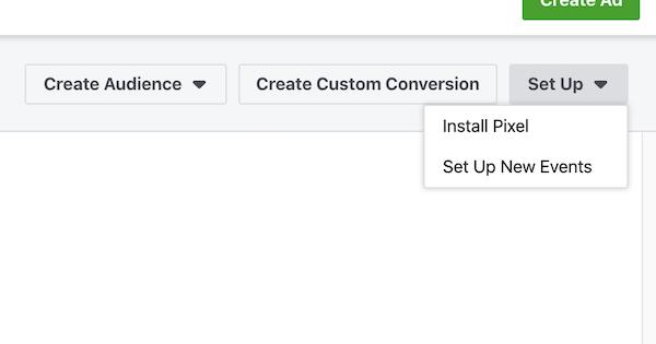 Choose Pixel Event Setup type