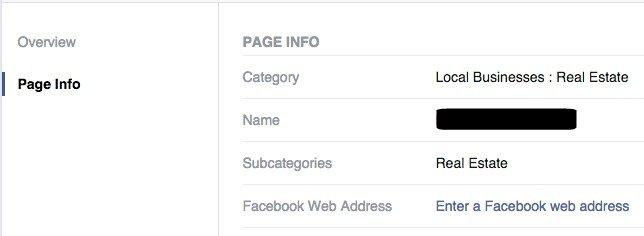Enter Facebook Web Address