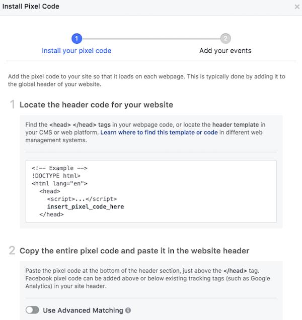 Install Facebook Base Pixel Code
