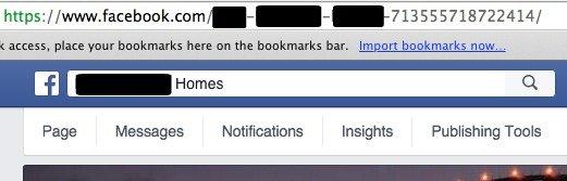 Setting up Facebook Web Address