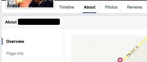 Update Facebook Web Address