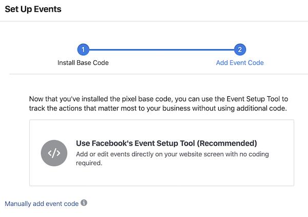 setup facebook pixel events tracking
