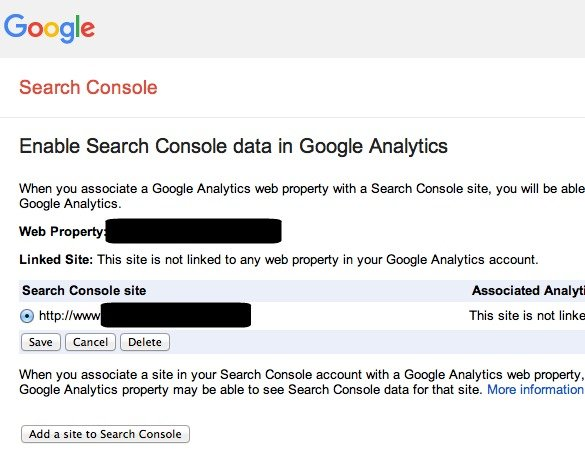 Save URL in Google Search Console