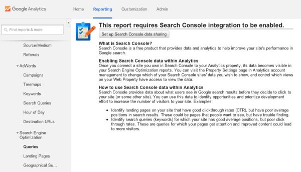 Google Analytics Search Engine Optimization