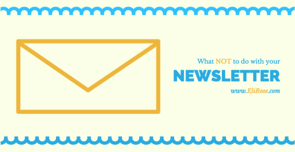 Email newsletter don'ts